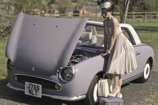 Nissan Figaro and the Mel Palmer Collection
