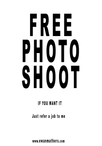free photo shoot poster
