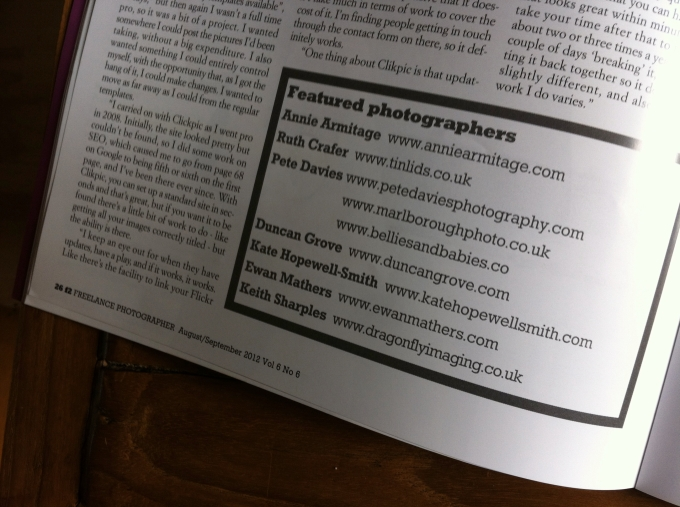 Ewan Mathers photo in f2 Freelance Photographer Magazine