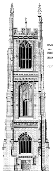 Derby Cathedral Tower - Before