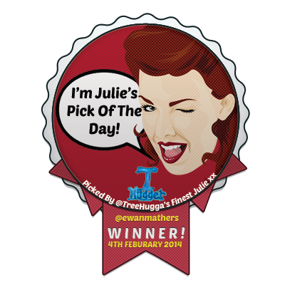 I'm Julie's Pick of the Day on Twitter!