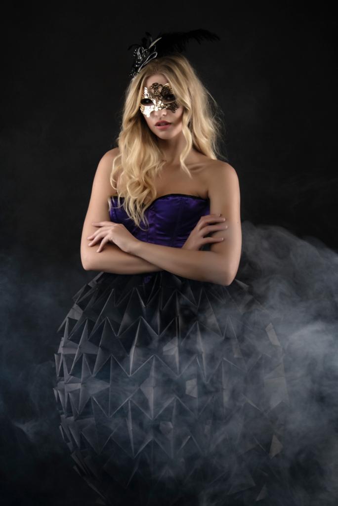 Rachel Bowler in Gwen's Paper Dress
