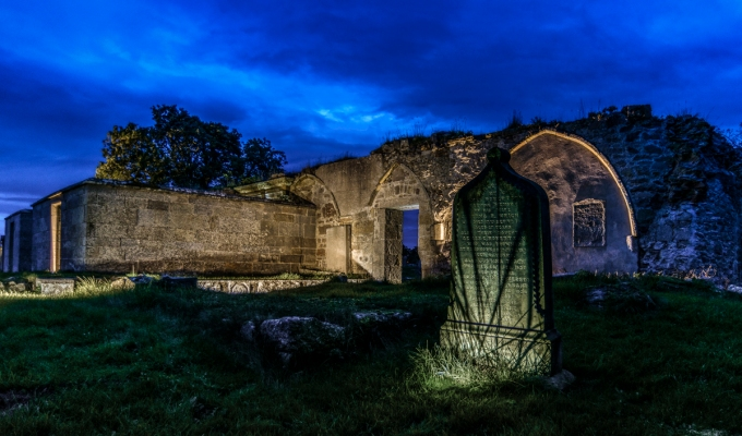 Guerilla Lighting at Kinloss Abbey